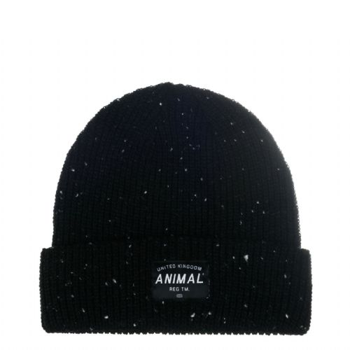 ANIMAL MENS BEANIE HAT.NEW ALLEX BLACK KNITTED TURN UP FISHERMAN CAP 7W 4 002